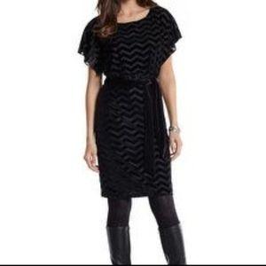 White House Black Market Chevron Velvet Dress